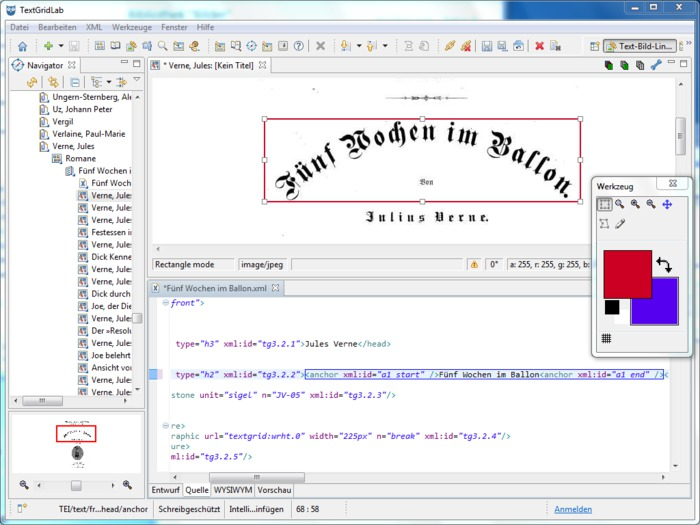 Text Image Link Editor